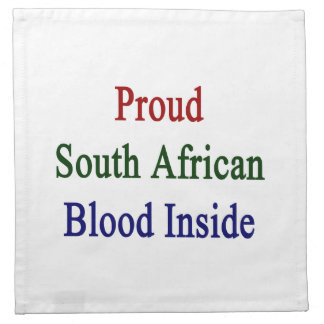 Proud South African Blood Inside Cloth Napkin