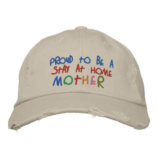 Proud Stay At Home Mother Distressed Chino Cap Baseball Cap