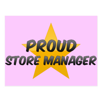 Proud Store Manager Post Cards