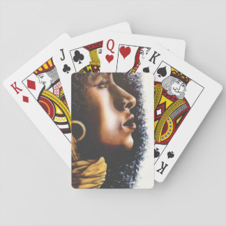 Proud, strong woman painted by Julie Ann Stricklin Playing Cards