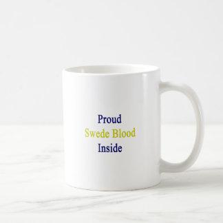Proud Swede Blood Inside Basic White Mug