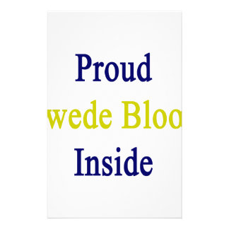 Proud Swede Blood Inside Stationery Paper