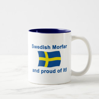 Proud Swedish Morfar (Grandfather) Two-Tone Coffee Mug