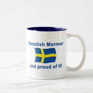 Proud Swedish Mormor (Grandmother) Two-Tone Coffee Mug