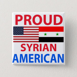 Proud Syrian American 15 Cm Square Badge