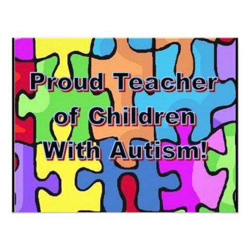 Proud Teacher of Children With Autism! Custom Invite