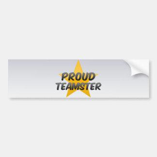 Proud Teamster Bumper Sticker