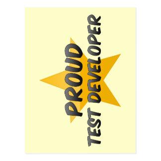 Proud Test Developer Post Cards