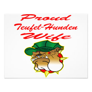 Proud Teufel-Hunden Wife Personalized Announcement
