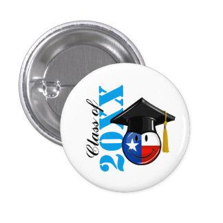 Proud Texas Graduate Smiling Flag 3 Cm Round Badge