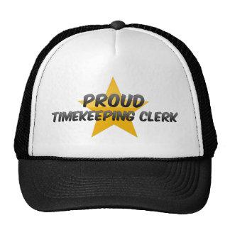 Proud Timekeeping Clerk Mesh Hat