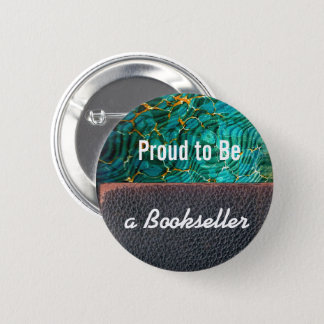 Proud to be a Bookseller Button | Marble Leather