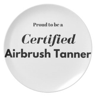 Proud to be a Certified Airbrush Tanner Plate