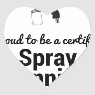 Proud to be a certified Spray Tanning Professional Heart Sticker
