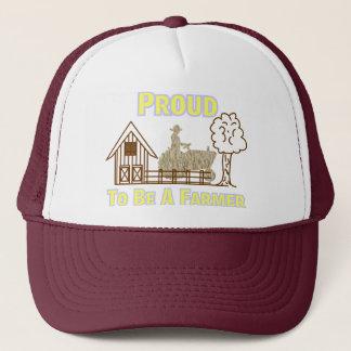 Proud To Be A Farmer Hat/Cap Trucker Hat
