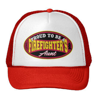 Proud to be a Firefighter's Aunt Mesh Hat