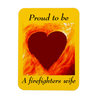 Proud to be a firefighter's wife magnet