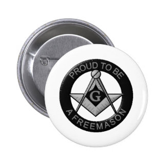 Proud To Be A Freemason 6 Cm Round Badge