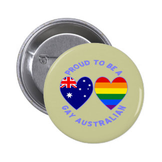 Proud to be a Gay Australian 6 Cm Round Badge
