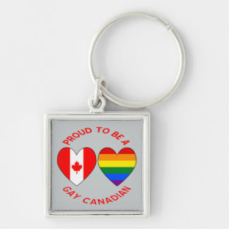 Proud to be a Gay Canadian Key Ring