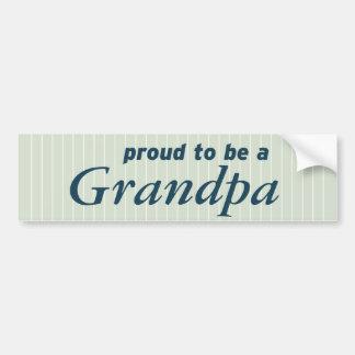 Proud to be a Grandpa! Bumper Sticker