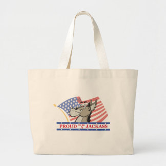 Proud To Be A Jackass Political Canvas Bag
