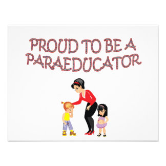 PROUD TO BE A PARAEDUCATOR INVITES
