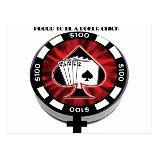 PROUD TO BE A POKER CHICK POSTCARDS
