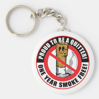 Proud To Be A Quitter 1 Year Key Ring
