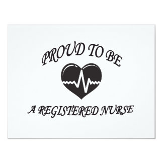 PROUD TO BE A REGISTERED NURSE 11 CM X 14 CM INVITATION CARD