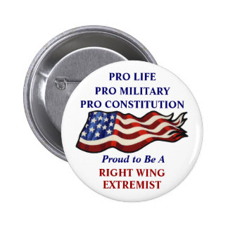 Proud To Be a Right Wing Extremist 6 Cm Round Badge
