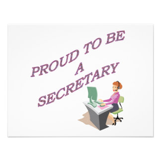 PROUD TO BE A SECRETARY CUSTOM ANNOUNCEMENT