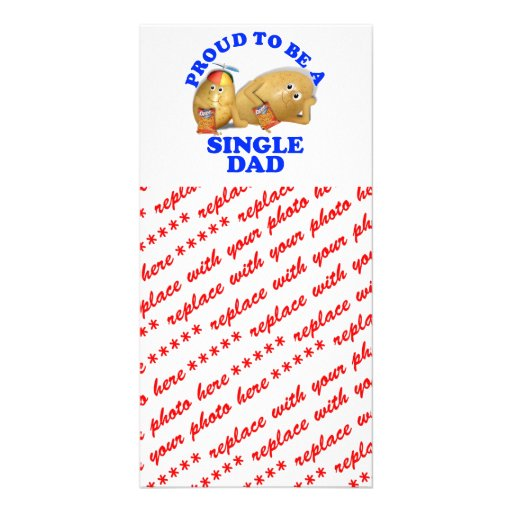 Proud to be a Single Dad - Father & Son Potatoes Photo Card