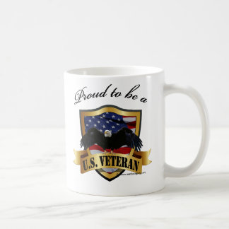 Proud to be a U.S. Veteran Basic White Mug