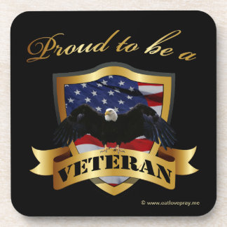 Proud to be a Veteran Beverage Coasters