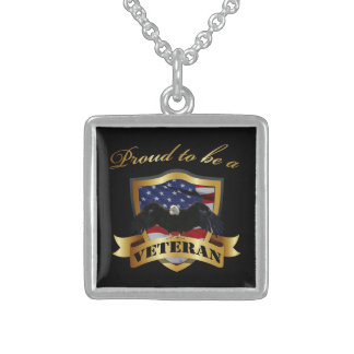 Proud to be a Veteran - Sterling Silver Sterling Silver Necklace
