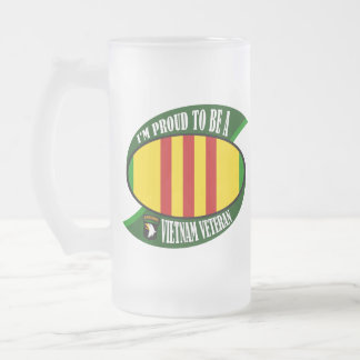 Proud to be a Vietnam Vet Frosted Glass Mug