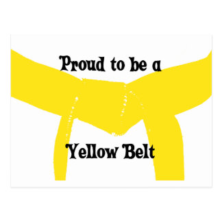 Proud to be a Yellow Belt Postcard