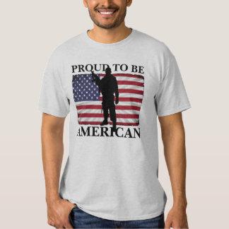 Proud to be American American Flag Patriotic Shirt