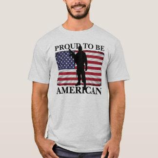 Proud to be American American Flag Patriotic T-Shirt