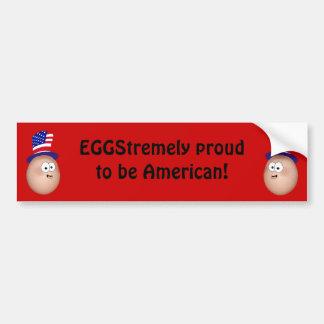 Proud to be American bumper sticker. Bumper Sticker