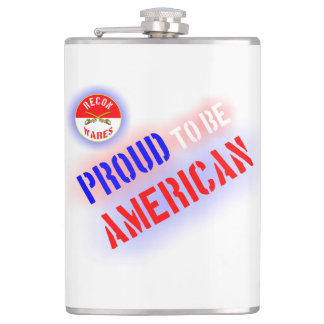 Proud to be American Hip Flask