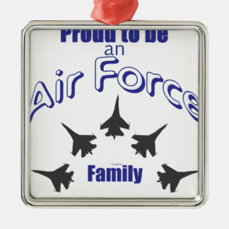Proud to be an Air Force FAMILY Silver-Colored Square Decoration