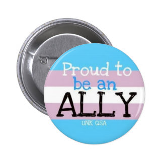 """Proud to be an Ally"" - Transgender Button"