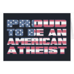Proud to be an American Atheist Cards