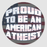 Proud to be an American Atheist Round Stickers