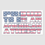 Proud to be an American Atheist Sticker