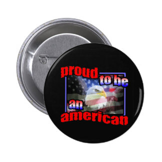 Proud to be an american button