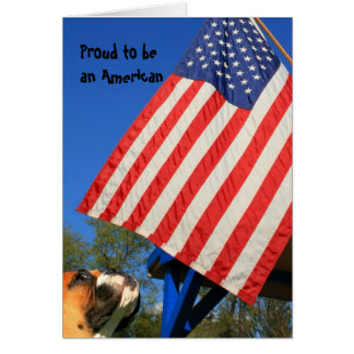 Proud to be an American Boxer notecard Note Card