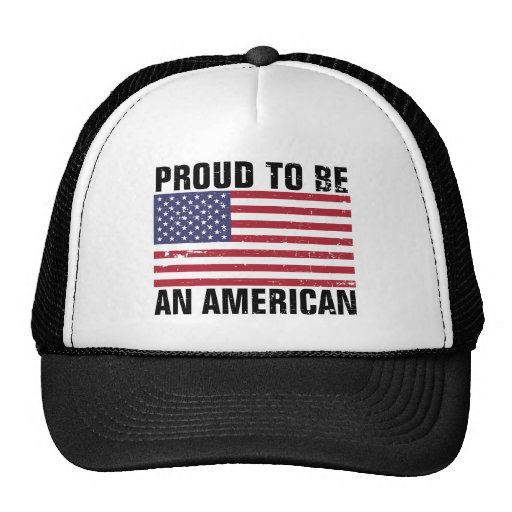 Proud to be an American - Distressed Mesh Hat